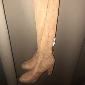 Knee high faux suede boots new with tags